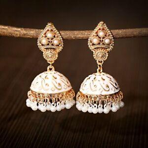 Oxidized Bohemia Ethnic Handmade Jhumka Jhumki Indian Earrings Jewelry for Women