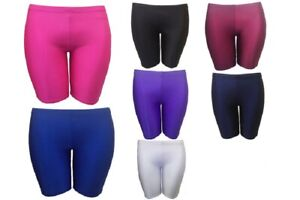 Girls Kids Boys Nylon Lycra Stretchy Sports Cycling Shorts School Gym Hotpant