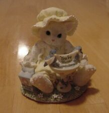 Calico Kitten Enesco Cat & Bird Bath Figurine A Little Bird told Me You're Tweet