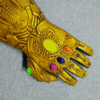 Thanos Infinity War Gauntlet LED Light Gloves Cosplay Marvel Avengers - Gold