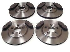 FOR JAGUAR S-TYPE 99-04 FRONT & REAR BRAKE DISCS & MINTEX PADS (CHECK SIZE)