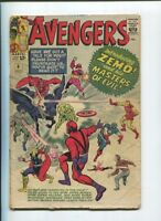 AVENGERS #6 1ST App OF BARON ZEMO and the MASTERS OF EVIL