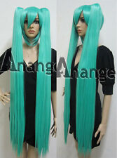 48'' 120cm Vocaloid Hatsune Miku Cosplay Wig Green Costume Synthetic Hair Wigs