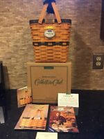Longaberger 1996 Collectors Club Basket-Handle Wrap Combo Original Papers Box