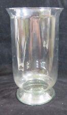 "Clear Glass Pillar Vase Footed  13-5/8 "" Tall -7-3/4"" Dia. Holidays Weddings"