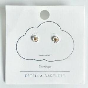 Mini Wildflower Stud Earrings - Silver & Gold Plated - Estella Bartlett