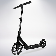 Exooter M7Bk Manual Kids Kick Scooter With Dual Suspension Shocks In Black.