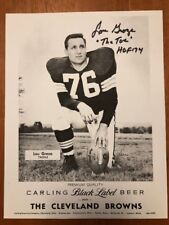 Carling Black Label Beer Photo Cleveland Browns Lou Groza HOF Auto Autograph