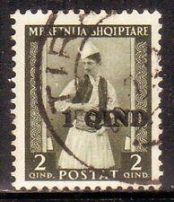 B089   ALBANIA – Sovr. 1 q. n. 37, timbrato.