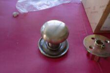 Baldwin 5015-050 Passage Solid Brass Door knob satin brass and black