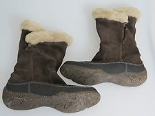 "CLARKS Brown Suede Leather Mid Calf Boots ""Novice Moon"" Women's US Size 7"