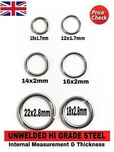 H/D UNWELDED STEEL METAL CRAFT COLLARS BAGS STRAPS O RINGS 10 12 14 16 18 22 mm