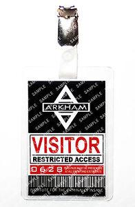 Batman Arkham Asylum Visitor Gotham Fancy Dress Cosplay Prop Comic Con Halloween