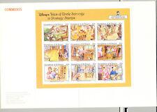 St Vincent (Grenadines) #964 Disney, Goldilocks  M/S of 9 Imperf Proof in Folder
