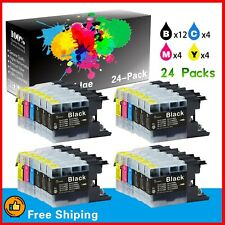 24 Pack LC75 LC-75XL Ink Cartridge for Brother MFC-J625DW MFC-J835DW Printers