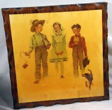 Vintage Norman Rockwell Wooden Wall Plaques - Set of 2