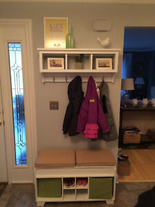 Cubby Wall Shelf / Cubby Organizer / Cubby Storage / Cubical with Hooks