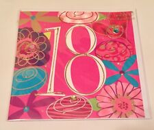 18th Birthday Card: Stunningly Beautiful Very Special Hand Painted Pink Design