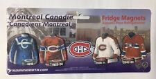 Montreal Canadiens Evolution of the Jersey Fridge Magnets - Uniform History