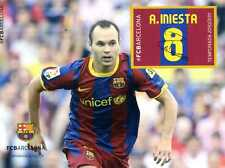 Prueba del sello de Iniesta FCBARCELONA temporada 2010-2011 football fcb stamps