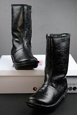 Alegria Vale Boots Black Rose Embossed Leather New With Box WARM! 38 EU 7.5 US