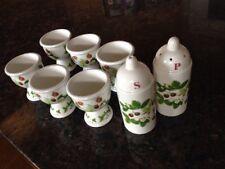 Portmeirion Summer Strawberries (6) Egg Cups  Salt & Pepper