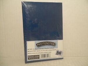 "PHOTONOTES 100 Compartment Photo Album 4x6"" Note Strip Robert Alan Products BLUE"