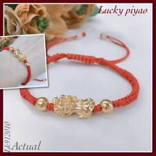 Party :  Lucky Red String Piyao Gold Plated Bracelet Fashion Accessories