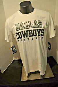 Dallas Cowboys on-Field Men's White Nike Dri-Fit Footbal T-Shirt N W Tag size Lg