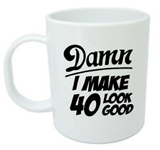 Damn 40 Mug, 40th Birthday gifts, presents, gift ideas for men, 40 year old