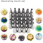 35Pcs Stainless Steel Cupcake Cake Decorating Icing Piping Nozzle Tips Set