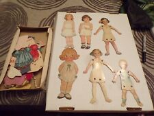 Vtg Lot of Paper Dolls & Clothes Some Homemade Must See