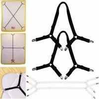 2Pcs Triangle Bed Sheet Mattress Holder Fastener Grippers Clips Suspender Straps
