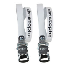 White Leather Zefal Christophe 516 Leather Toe Clip Straps L'Eroica Retro