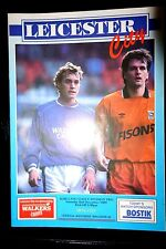 1989/90 LEICESTER CITY v IPSWICH TOWN Division 2 matchday programme 2.12.1989