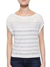 Rag & Bone Women's Stripe Linen Short Sleeve Tee $195