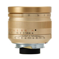 Limited Version golden 7artisans 50mm f1.1 Manual Lens for Leica M Mount MP M10
