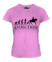 EQUESTRIAN EVOLUTION OF MAN LADIES T-SHIRT TEE TOP GIFT HORSE RIDING