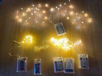"""Deko 6 LED Draht Lichterketten """"Warmweiß """" 20-100 LEDs batteriebetrieben"""