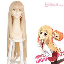 Himouto Umaru-chan Doma Umaru Long Straight Peach Color Hair Cosplay Wigs
