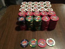 "Paulson Top Hat and Cane Chips. 500 Real "" Chips Casino Bremerton"" casino chips"