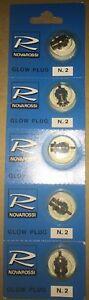 Novarossi N.2 Nitro Engine GLOW PLUG Hot 1.5 to 3.5cc (5 pcs)