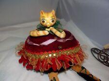 Katherine's Collection Wayne Kleski Fat Cat Holiday Ballerina Beanbag Doll