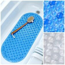 Mildew Resistant Bath Safety Mat with Suction Cups: Non-Slip Bathtub Mat