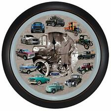 """History of Ford Trucks Model T - F150 Hanging Wall Sound Clock, 13"""""""