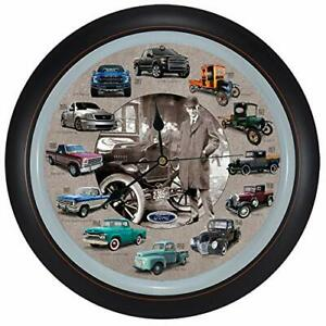 History of Ford Trucks Model T - F150 Hanging Wall Sound Clock, 13""