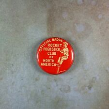 "Vintage Style  Club Member Pinback Button  1""  Pogo Stick Society North America"
