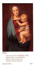 """Heiligenbild  Holycard Maria und Jesus Kind """" H3670"""" Messopfer"""