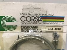 NOS 80s Casiraghi Corsa Race Brake Cable/Housing Set Clear, Road