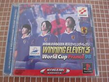 JIKKYOU WINNING ELEVEN 3 WORLD CUP FRANCE 98 WORLD SOCCER PSX PS1 JAPAN